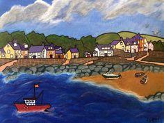 Acrylic Artwork, Acrylic Paintings, Newport Bay, Seaside Art, Visit Wales, Inspiration Wall, Welsh, Beaches, Landscapes