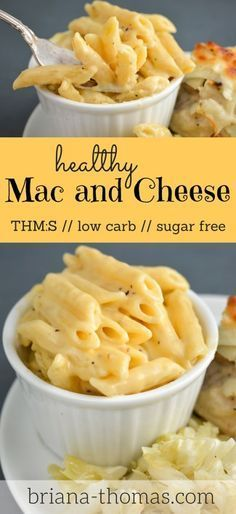Healthy Mac and Cheese // THM:S, low carb, sugar free