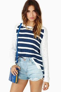 b75e9d14f6 Cruising Stripe Knit by MINKPINK Nautical Fashion