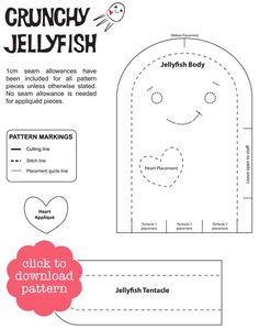 Jellyfish Toy Pattern and Tutorial by Pinky the Toy Maker