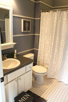 boys bathroom but I think with a few changes it would be a nice guest bathroom