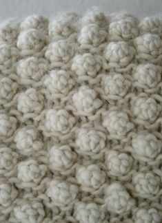 ergahandmade: 5 Stitch Garter Bobble ( Bobble Sheep Pillow )
