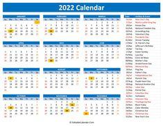Downloadable Calendars 2022 Photo Calendar, Print Calendar, Calendar Design, Printable Yearly Calendar, Blank Calendar Template, Kansas Day, Holiday Words, Calendar Wallpaper, Holidays And Events
