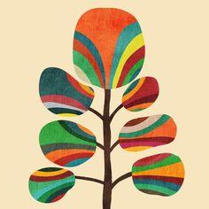 Exotica Art Print by Budi Satria Kwan Art And Illustration, Abstract Canvas, Canvas Art, Wal Art, Stoff Design, Geometric Art, Mosaic Art, Painting Inspiration, Collage Art