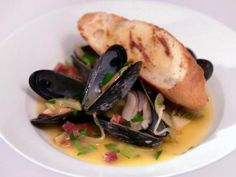 Get Mussels with Chorizo and Fennel Recipe from Food Network