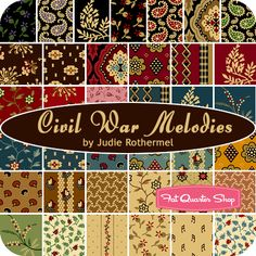 CIVIL WAR MELODIES by  Judie Rothermel for Marcus  Fabrics