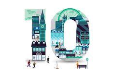 Nash Bond 10th Anniversary identity on Behance