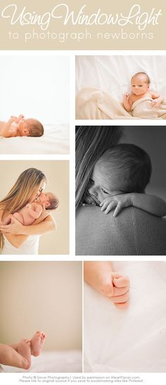 How To Take Simple, Beautiful Photos of Newborns with Window Light | Newborn Photography Tips via iHeartFaces.com