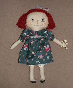 Cute+Primitive+Raggedy+Doll+Gingerbread+Annie+by+auntpollysdolls,+£14.00