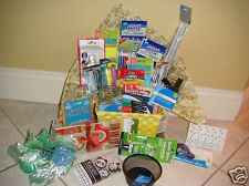 College Student School Supply gift basket Care Package . Lot Dorm 34 plus piece Buy It Now $52.99