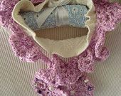 My Delightful Lilac Scarflette Hand Crocheted and Beaded featured in this fabulous collection