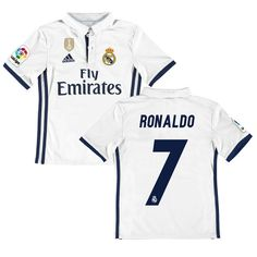 ce2385663 Ronaldo Real Madrid adidas Youth Home FIFA World Cup Champions Patch  Replica Jersey - White
