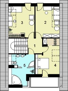 Rzut HG-n3 CE House 2, Floor Plans, How To Plan, Houses, Beauty, Floor Plan Drawing, House Floor Plans