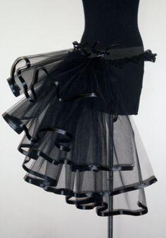 Black Burlesque Bustle Belt size 4-10 US 6-12 UK. $40.00, via Etsy.
