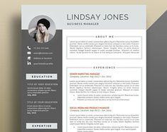 Modern Resume Template / CV Template Cover Letter by ResumeExpert ...