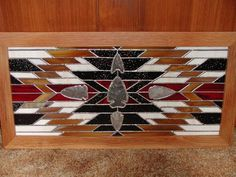 Southwest Indian Design With Artifacts - from Delphi Artist Gallery by Dreammaker's Stained Glass