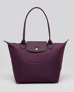 Longchamp Tote Planetes Medium in Plum Purses And Handbags 0b3775de774ac