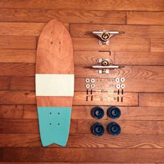 Skateboard fish-tail de la boutique HandmadeCruiser sur Etsy