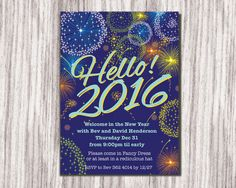 Printable New Years Party Invitation Downloadable New Year