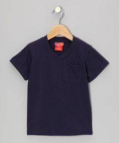 Take a look at this Dark Navy V-Neck Tee - Infant, Toddler & Boys by CRugged on #zulily today!