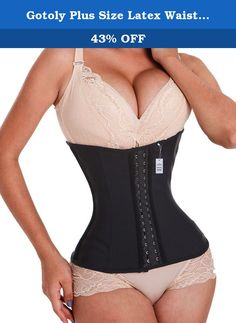 Gotoly Plus Size Latex Waist Trainer Fitness Body Shaper Lumbar Back Brace (L, Black). Loose inches instantaneously,Corsets are sized by waist size, please choose according to your waistline measurement. Features hook and eye closures covered by a protective zipper for smoothing abdomen and really securing it. And the hooks are sturdy and tuck your tummy in. 1.Waist training corset has 3 hook and eyes in front. 2.It is made of smooth latex fabric, comfortable and durable. 3.Features the...