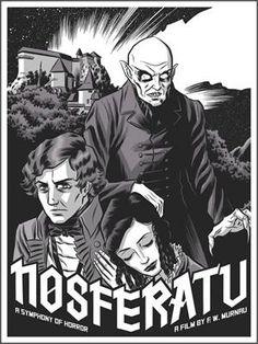 * Nosferatu- Glow in the Dark print- by Robert Wilson IV