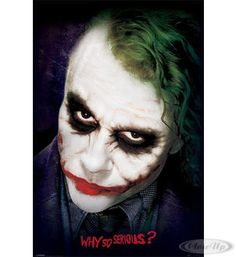 Batman - The Dark Knight Poster Joker Gesicht Hier bei www.closeup.de