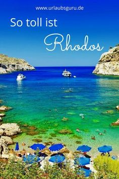 Learn all about the highlights of the Greek island of the sun in my Rhodes . Learn everything about the highlights of the Greek island in my Rhodes tips. I have tested the most beautiful beaches an. Greece Cruise, Greece Vacation, Greece Travel, Best Greek Islands, Greece Islands, Beautiful Islands, Beautiful Beaches, Mykonos, Santorini