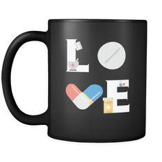 [product_style]-Pharmacist mug - LOVE Pharmacist - 11oz Black Mug-Teelime