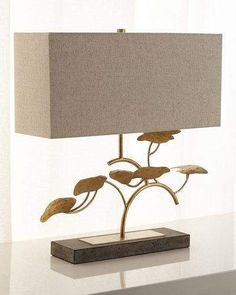 Shop Gold Leaf Tree Table Lamp from John-Richard Collection at Horchow, where you'll find new lower shipping on hundreds of home furnishings and gifts. Farmhouse Lamps, Rustic Lamps, Tree Table, Metal Table Lamps, Lamp Table, Luminaire Design, Unique Lamps, Modern Lamps, Bedroom Lamps