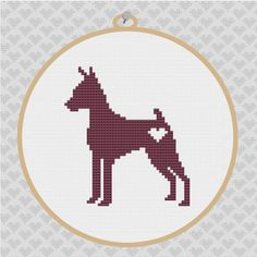 Items similar to Miniature Pinscher Silhouette Cross Stitch PDF Pattern on Etsy Cross Stitch Silhouette, Bird Silhouette, Cross Stitching, Cross Stitch Embroidery, Cross Stitch Patterns, Miniature Pinscher, Dog Pattern, Cross Stitch Animals, Beading Patterns