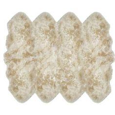 "Mercer41 Stroud Sheepskin Tan Area Rug Rug Size: Octagon 6' x 7'6"""