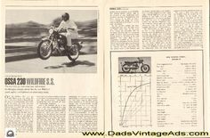 1968 Ossa 230 Wildfire S.S. Street Scrambler Motorcycle Road Test - The new trick gas tank looks nice