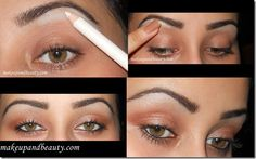 using white eyeliner to highlight your brow bone