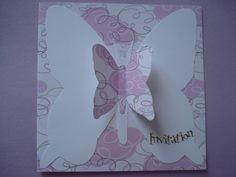 Cartes d'invitation anniversaire enfant, thème papillon : Ecole et loisirs par filsetcouleurs