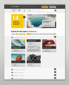 Designspiration — Event & Music Website on the Behance Network