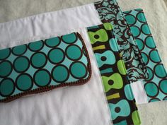 Travel Wipe Case with 3 Matching Burp Cloths- You choose from 340 fabric options on Etsy, $26.95