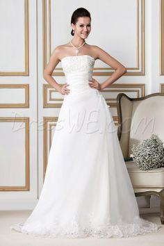 プリティなチャペル鉄道サンドラのAラインウェディングドレス スカート 8872342 - レース ウェディングドレス - Dresswe.Com