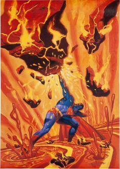Original DC Comics 35 x 24 Superman action Steve Rude art Dc Comics Poster, Superman Poster, Superhero Poster, My Superman, Dc Comics Art, Marvel Dc Comics, Superman Stuff, Superman Artwork, Batman