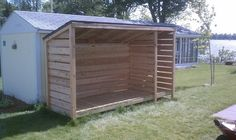 Wood Shed & bicycle shed