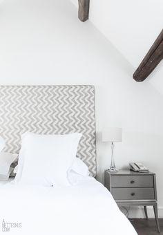 Chevron headboard  #bedroom design