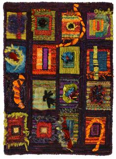hooked rugs abstract gail dufresne - Google 検索