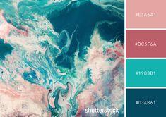 Palette de couleurs Tourbillon de couleurs Idée et inspiration pour création graphique