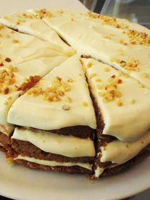 The carrot cake at Keltainen Talo / The Yellow Country House in Pälkäne, Finland