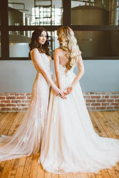 Romantic lace wedding dresses by Joyce Young Couture | Sue-Slique Photography