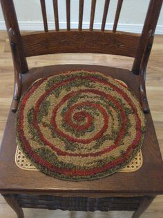 Exceptionnel Items Similar To Handmade Primitive Hooked Chair Pad, Inspired By Nature,  Customizable On Etsy