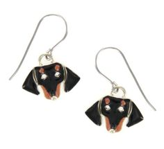 Black & Tan Dachshund Face Enamel & Silver Dangle Earrings AJ, http://www.amazon.com/dp/B008GTHBBI/ref=cm_sw_r_pi_dp_kk1.pb1Z87JMX