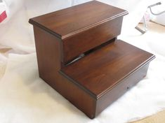 Xl Adult Size Step Stool Alder Hardwood Wood - Kitchen Pantry Closet Bed…