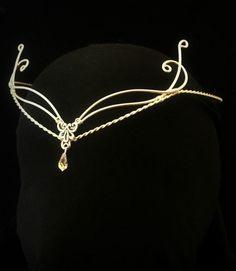 Celtic Handfasting Hobbit wedding elven tiara circlet pagan Swarovski LOTR   eBay