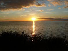 Sunset at Äleklinta on the western coast of Öland.